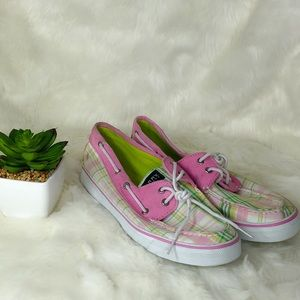 Sperry Top-Sider Pastel Gingham Boat Shoes